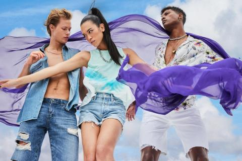Celebrate Pride all month long with vibrant Pride-inspired pieces from Macy's; I.N.C. International Concepts Tie Dye Tank, $39.50, Floral Camp Shirt, $49.50. (Photo: Business Wire)