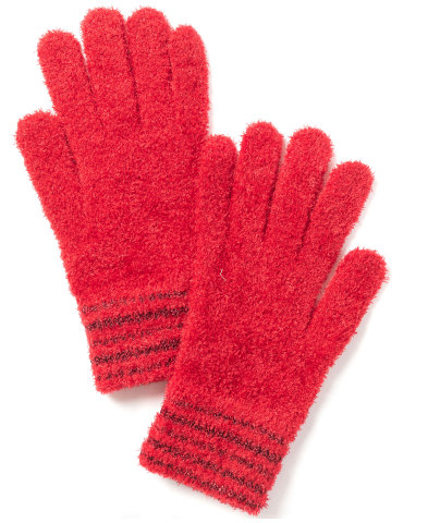 Macy's offers last-minute shoppers inspiration with thoughtful gifts for every personality and price point; Charter Club Striped-Cuff Chenille Gloves, $24.50 (Photo: Business Wire)