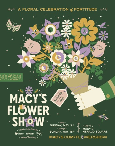 Macy's Flower Show takes root at Macy's Herald Square in NYC. Sunday, May 2 through Sunday, May 16 (Photo: Business Wire)