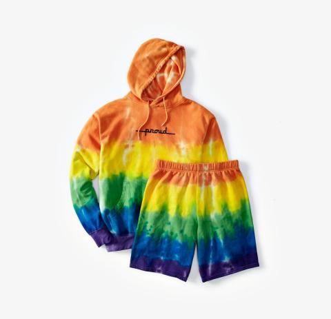 Celebrate Pride all month long with vibrant Pride-inspired pieces from Macy's; The Phluid Project Sweatshirt and Shorts, $48.00 - $69.00 (Photo: Business Wire)