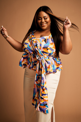 Discover on-trend plus styles from the Nina Parker collection, exclusively for Macy's; Peplum Top, $89.00