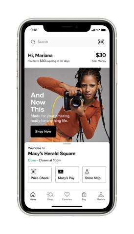 Macy's helps shoppers get ready for the holidays with new brands and services; Macy's New Mobile App (Photo: Business Wire)